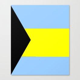flag of Bahamas 2– Nassau,Bahamian,Bahamianese,Junkanoo,Regattas Canvas Print