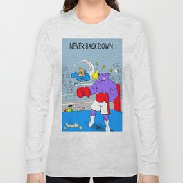 "Quixote Coyote ""Never Back Down"" Long Sleeve T-shirt"
