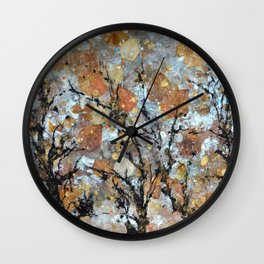 A Winter Collage Wall Clock