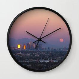 Los Angeles Supermoon Wall Clock