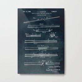 1965 - Two-piece billiard cue Metal Print
