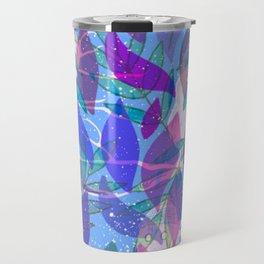 modern leaves pattern Travel Mug