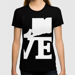 Connecticut Pride USA State Love Map T-shirt