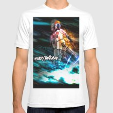 Space Jams MEDIUM White Mens Fitted Tee