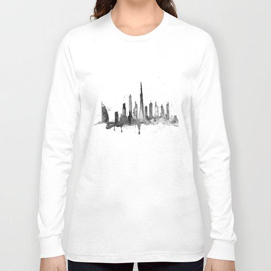 Dubai, black and white art Long Sleeve T-shirt