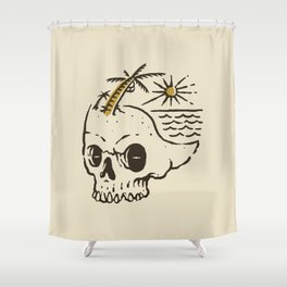 Skull island Shower Curtain