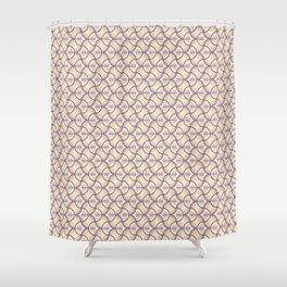 Geometric Cercls Line Patterns Shower Curtain