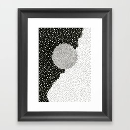 Sun in Darkness Framed Art Print