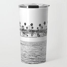 Vintage Newport Beach Print {4 of 4} | Photography Ocean Palm Trees B&W Tropical Summer Sky Travel Mug