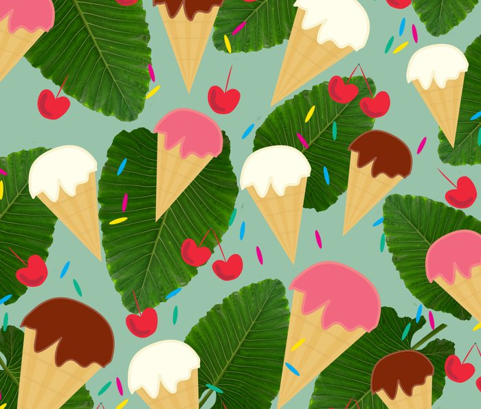 Tropical Ice Cream Metal Travel Mug