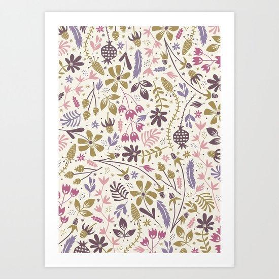 Vintage Blooms Art Print