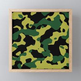 Pattern Camouflage Vert/Jaune/Noir Framed Mini Art Print