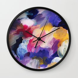 Robbie Abstract Painting Wall Clock