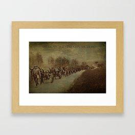 American Machine Gun Section Framed Art Print