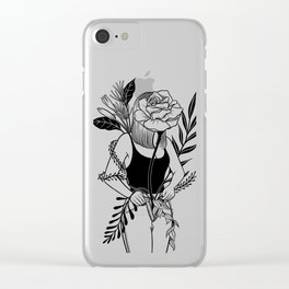 Let me bloom Ⅱ Clear iPhone Case