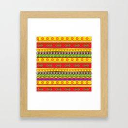gecko mexican pattern Framed Art Print