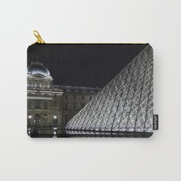 Louvre at night - landscape Carry-All Pouch
