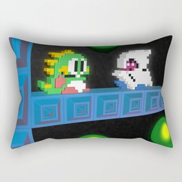 Inside Bubble Bobble Rectangular Pillow