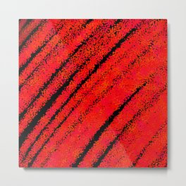 Scarlet Expressive Paint Texture, Modern Abstract Painting  Metal Print