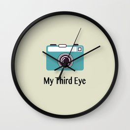 My third eye Wall Clock