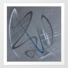 Métropole sous la pluie Art Print