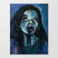 bjork Canvas Prints featuring BJORK by chris zombieking