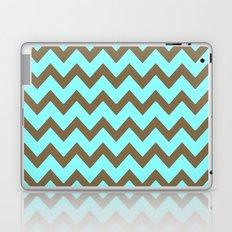 Mocha Mint Frappuccino Chevron Laptop & iPad Skin