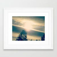 shining Framed Art Prints featuring Shining by Eirin Wie Haveland