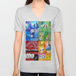 Rainbow Colors Unisex V-Neck