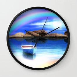Unter dem Regenbogen Wall Clock