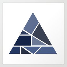 Triangle puzzle Art Print