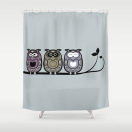 3 little owls Shower Curtain