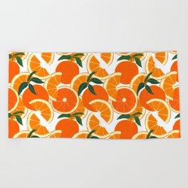 Orange Harvest - White Beach Towel