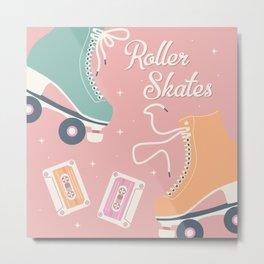 Roller skates illustration 006 Metal Print