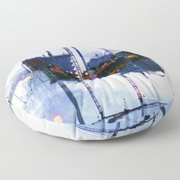 America ducking the question of origins (35mm multiple exposure) Floor Pillow