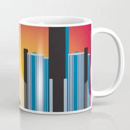 Detroit, Michigan - Skyline Illustration by Loose Petals Coffee Mug