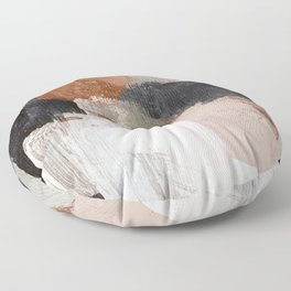 Earthly Abstract Floor Pillow