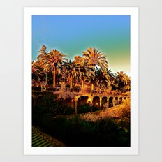 Sunny Barcelona Art Print