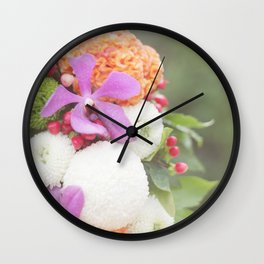 Floral Touch Wall Clock