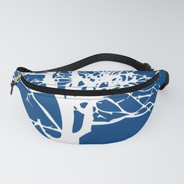 tree blue and white Fanny Pack