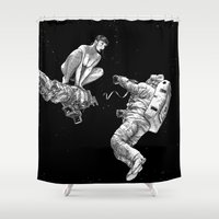 apollonia Shower Curtains featuring asc 578 - La séparation (Cutting the cord) by From Apollonia with Love