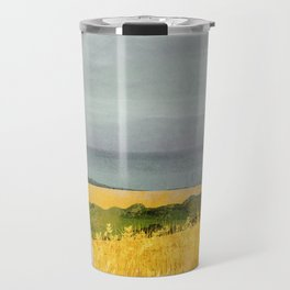 There's a ghost in the wheat field again... Travel Mug