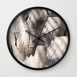 Palm Plates Wall Clock