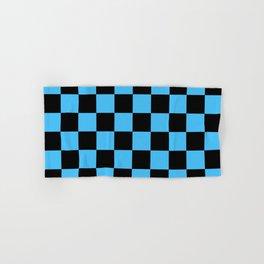 Black and Blue Checkerboard Pattern Hand & Bath Towel