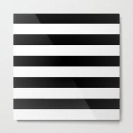 Striped (Black & White Pattern) Metal Print