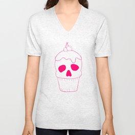 Skullcake Pink Unisex V-Neck