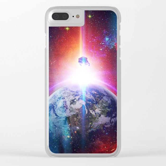 Is It Up? Is It Down? Clear iPhone Case
