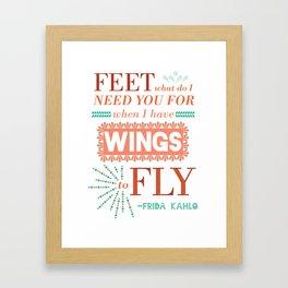 I Have Wings Framed Art Print