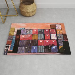 Colorful containers I Rug