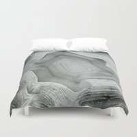 minerals Duvet Covers featuring MINERAL MONOCHROME by Catspaws
